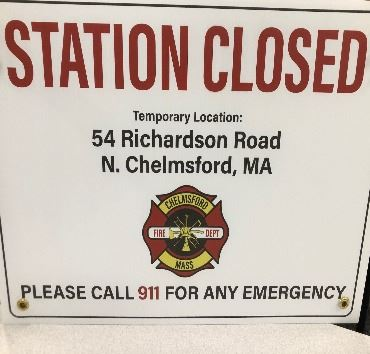 Fire Station Closure Sign